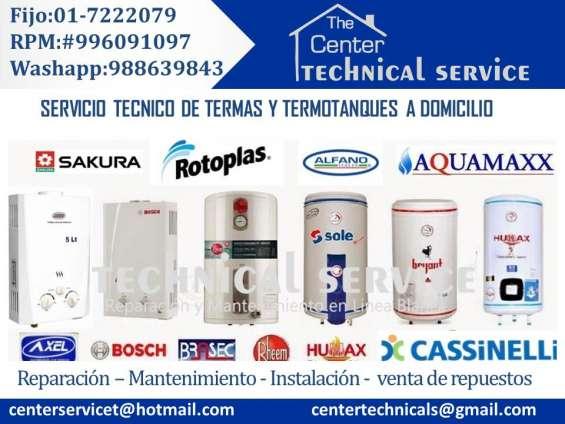 Mantenimiento d termas a gas electricas///servicio tecnico en lima